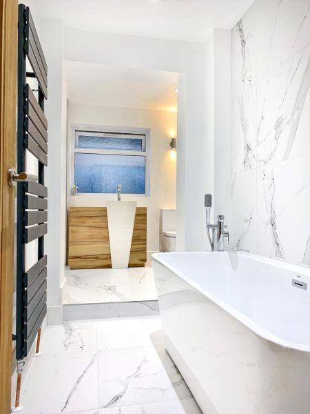 Carrerra bathroom complete 2